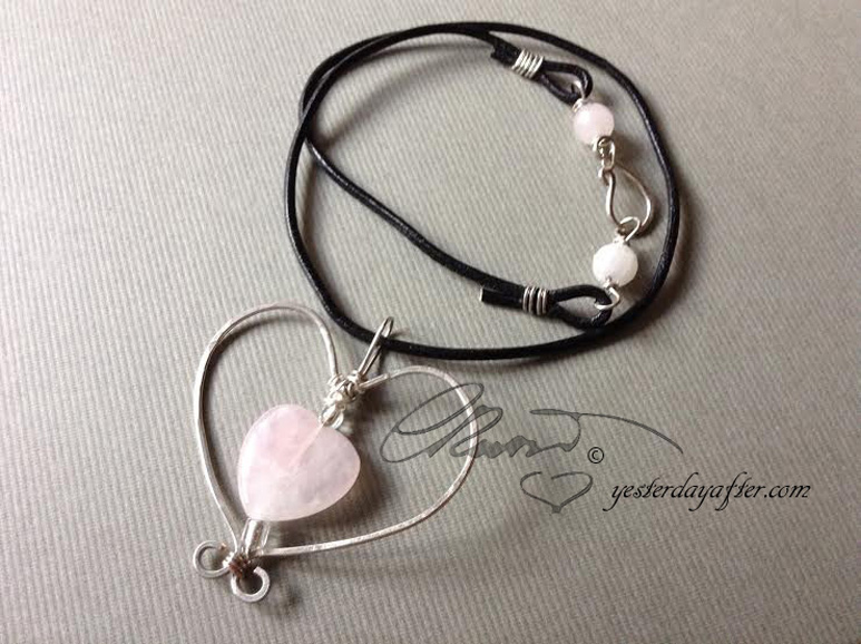 rose quartz heart#2c