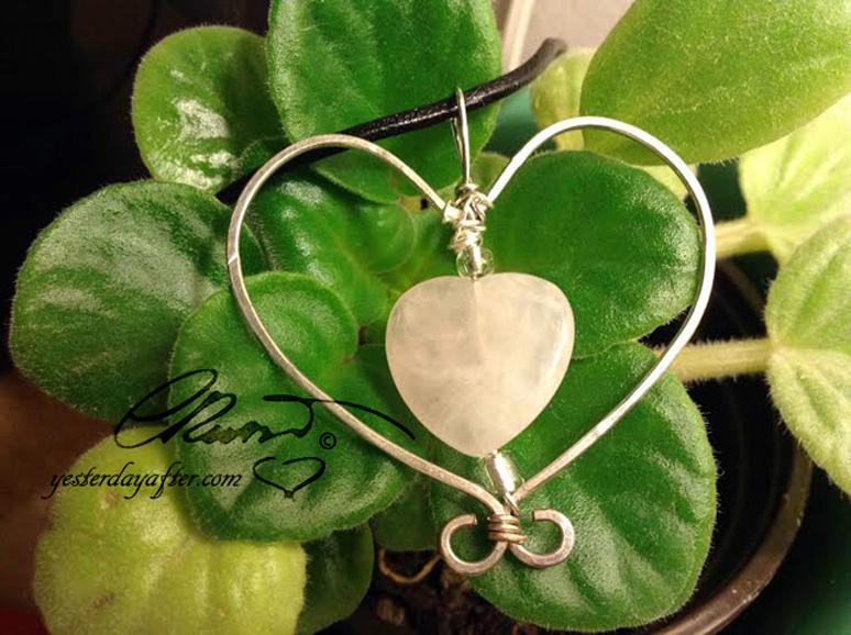 rose quartz heart#2dC