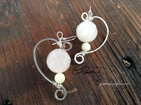 Half Heart Quartz Earrings $45