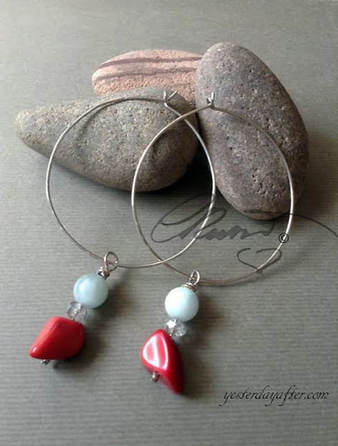 Hoop coral earrings1