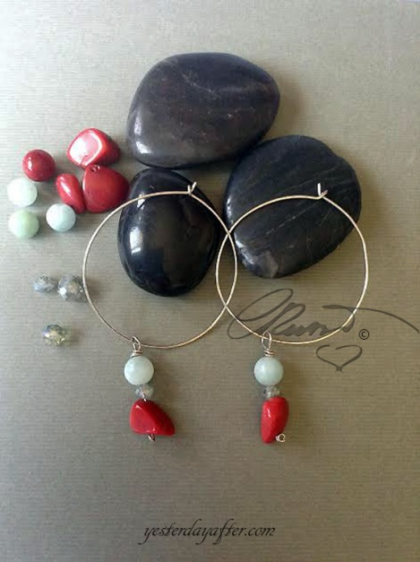 Hoop coral earrings4