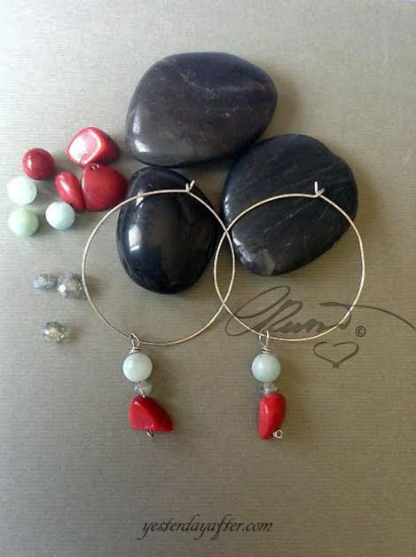 Hoop coral earrings4