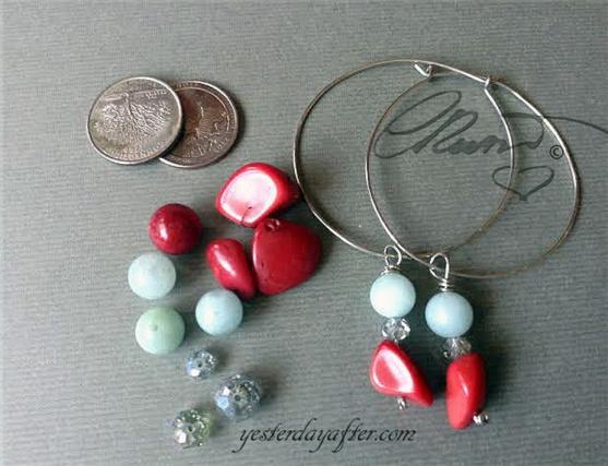 Hoop coral earrings6