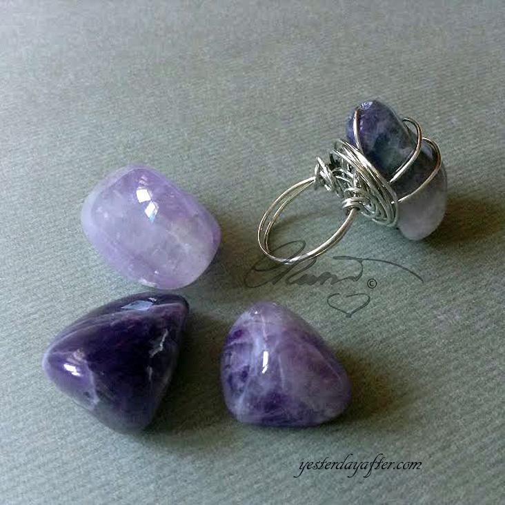 Purple Flame Amethyst Ring