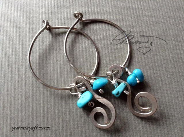 Hoop Turquoise Earrings
