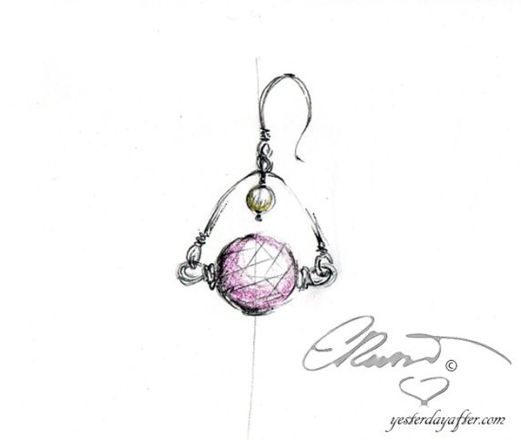 Rose Quartz_mpearl earrings