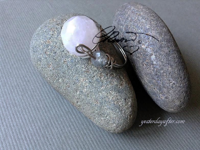 Rose Quartz Statement Dome Ring