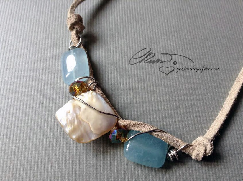 Blue Quartz Necklace