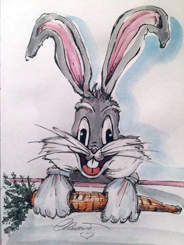 Bugs Bunny - Original Watercolor ©Carolina Russo