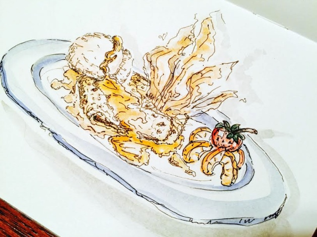 Crepe Suzette - Original Watercolor ©Carolina Russo