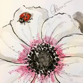 Ladybug - Original Watercolor ©Carolina Russo