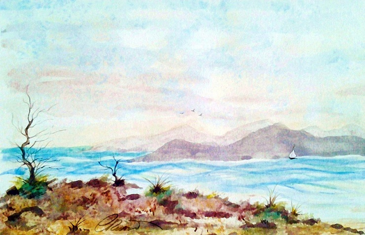 Seashore - Original Watercolor ©Carolina Russo