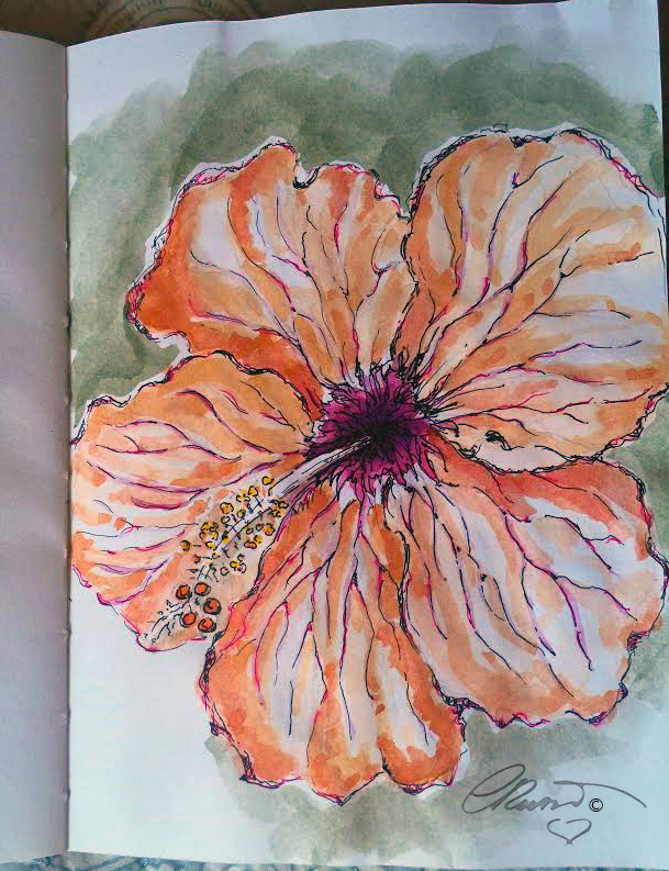 Hibiscus - Original Watercolor ©Carolina Russo