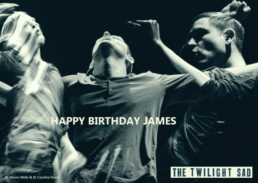 James Graham singer of The Twilight Sad - Birthday Portrait - Photography ©Mauro Melis  - Digital Portrait ©Carolina Russo