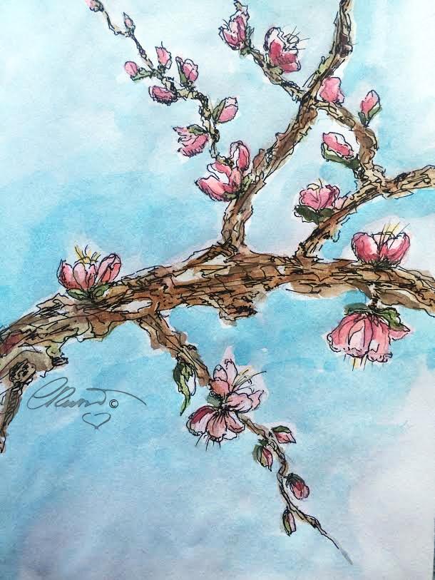 Spring Bloom - Original Watercolor ©Carolina Russo