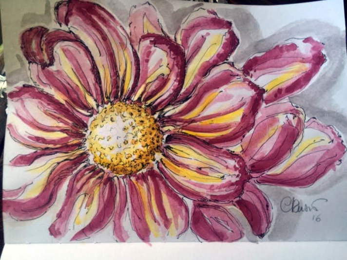 Day #6 - Bloodflowers - Original Watercolor ©Carolina Russo
