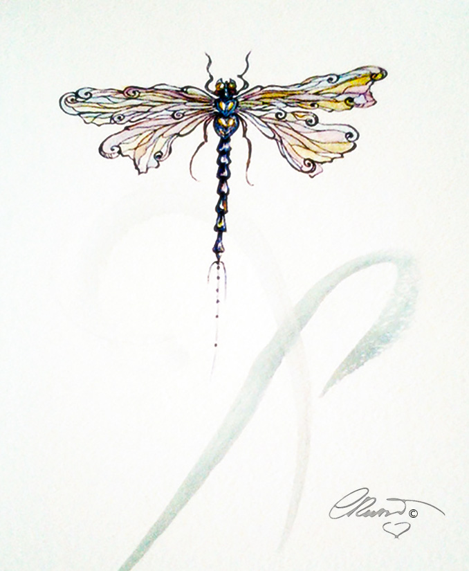 Dragonfly - Original Watercolor ©Carolina Russo