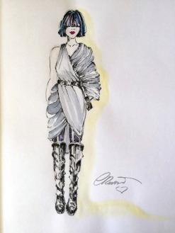 Fashion Design - Original Watercolor Sketch