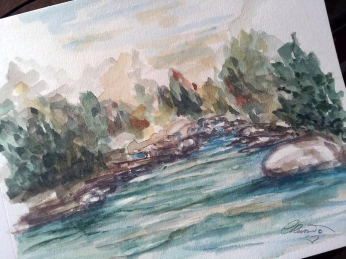In the wood - Original Watercolor ©Carolina Russo