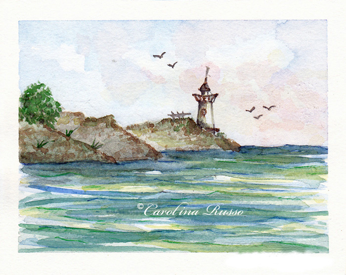 Lighthouse - Original Watercolor ©Carolina Russo