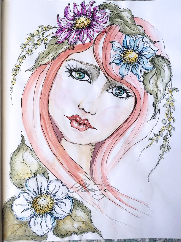 Miss Summer - Original Watercolor ©Carolina Russo