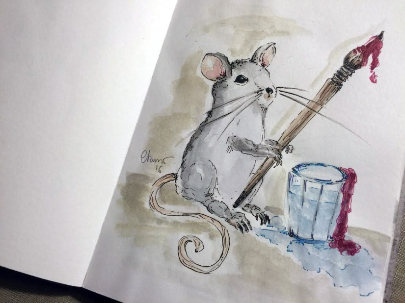 Day #13 - Mouse The Artist ©Carolina Russo