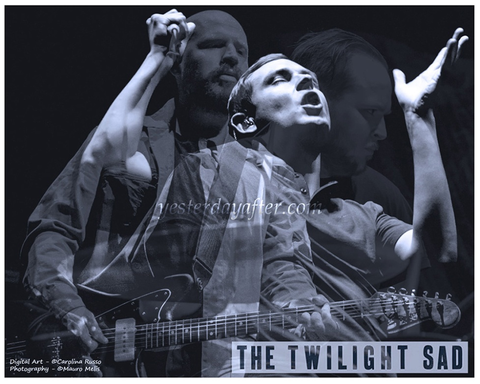 The Twilight Sad - Digital Portrait - MUSIC Collection - ©Carolina Russo - Photo Credits Mauro Melis