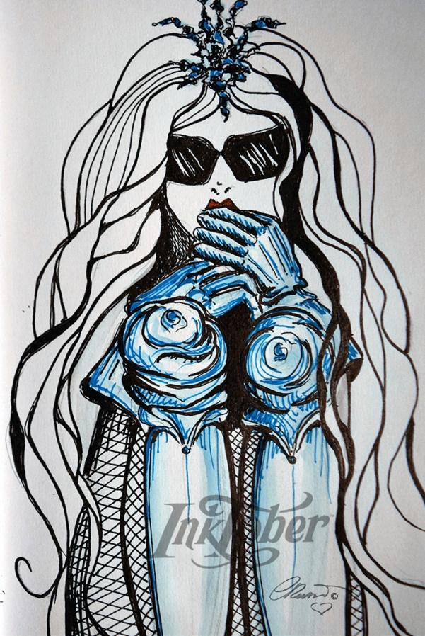 Day #13 - SCARED - InkTober 2016 ©Carolina Russo