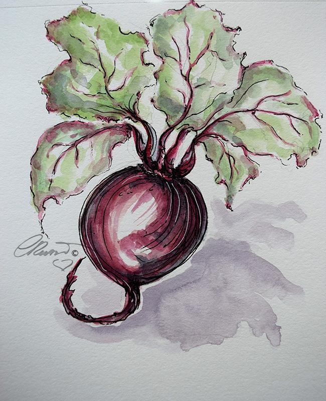 Beets - Original Watercolor ©Carolina Russo