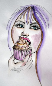 Cupcakes - Original Watercolor ©Carolina Russo