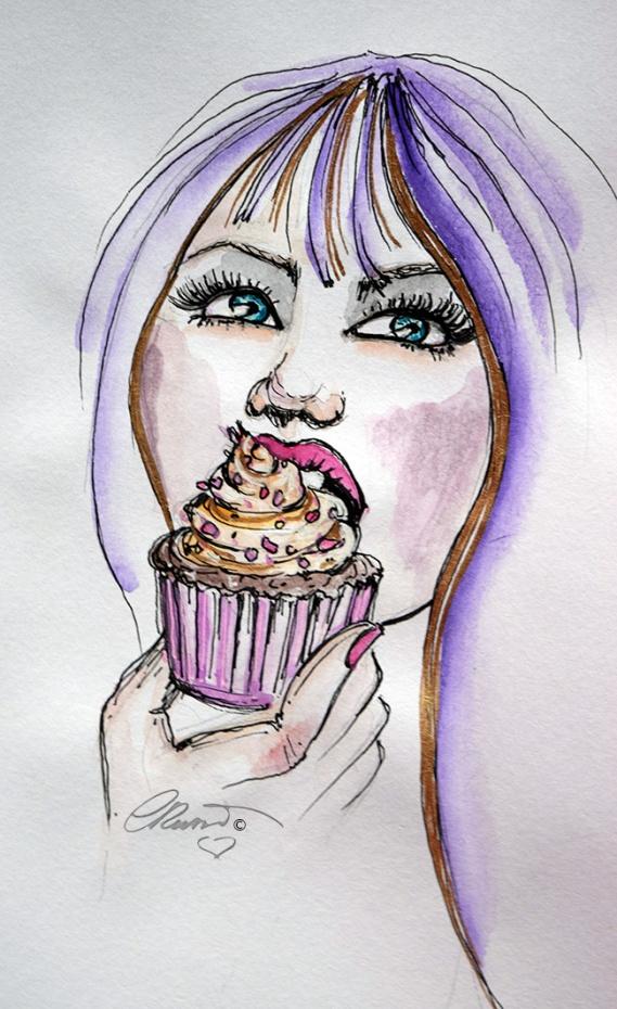 Cupcakes - Original Watercolor ©Carolina Russo