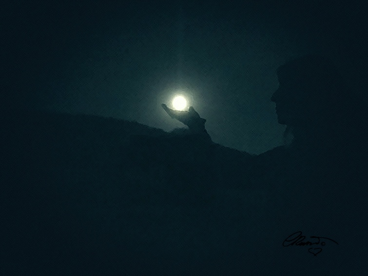 Full Super Moon on my hand ©Carolina Russo