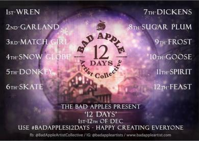 Bad Apple 12 Days Challenge Official Prompt List 2018