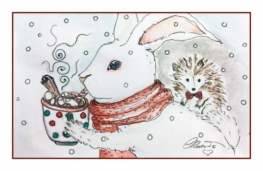 HOT CHOCOLATE Day 5 - Original Watercolor ©Carolina Russo