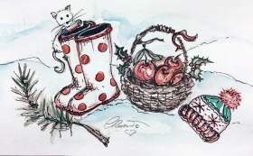 BOOTS Day 3 - Original Watercolor ©Carolina Russo