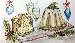 CAKE - Panettone Day 12 - Original Watercolor ©Carolina Russo