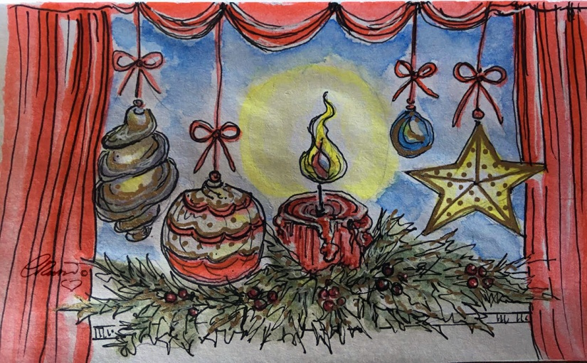 CANDLES Day 4 - Original Watercolor ©Carolina Russo