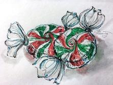CANDY Day 18- Original Watercolor ©Carolina Russo