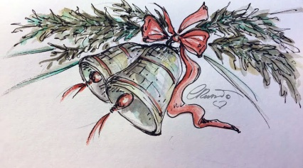 BELLS Day 7 - Original Watercolor ©Carolina Russo