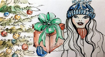 GIFT Day 25 - Original Watercolor ©Carolina Russo