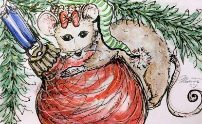 ORNAMENT Day 19- Original Watercolor ©Carolina Russo