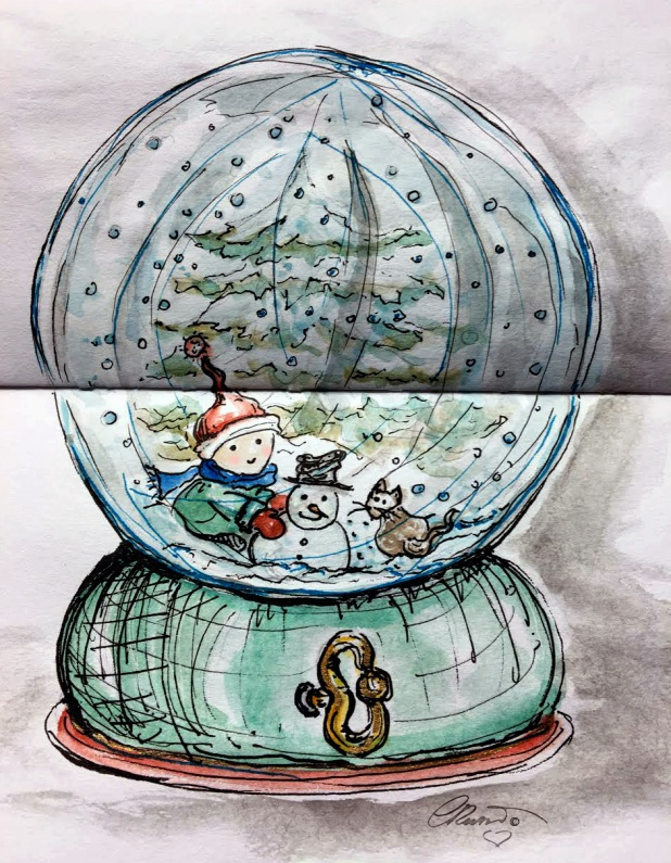 GLOBE  Day 21 - Original Watercolor ©Carolina Russo