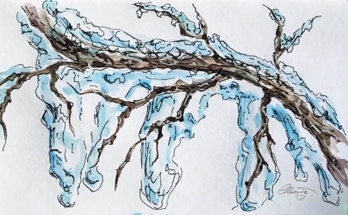 ICICLE 29 - Original Watercolor ©Carolina Russo