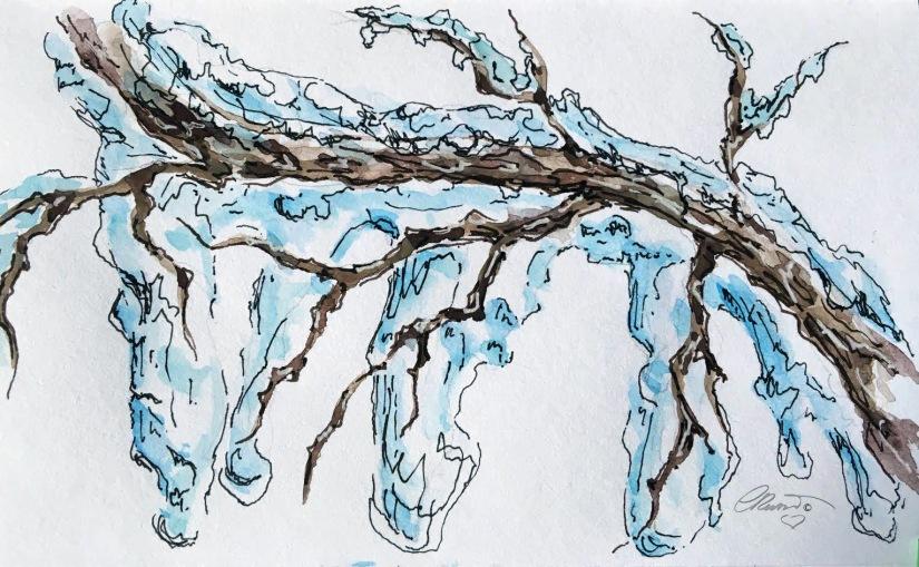ICICLE 29 - Original Watercolor ©Carolina Russo