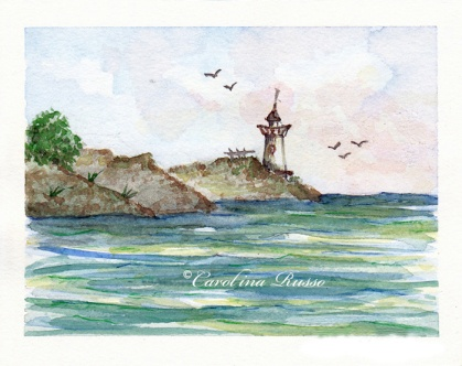 Lighthouse -Original Watercolor ©Carolina Russo