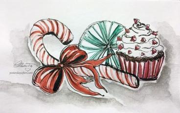 PEPPERMINT Day 1 - Original Watercolor ©Carolina Russo