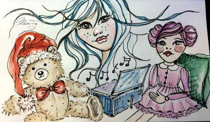 TOYS Day 23 - Original Watercolor ©Carolina Russo