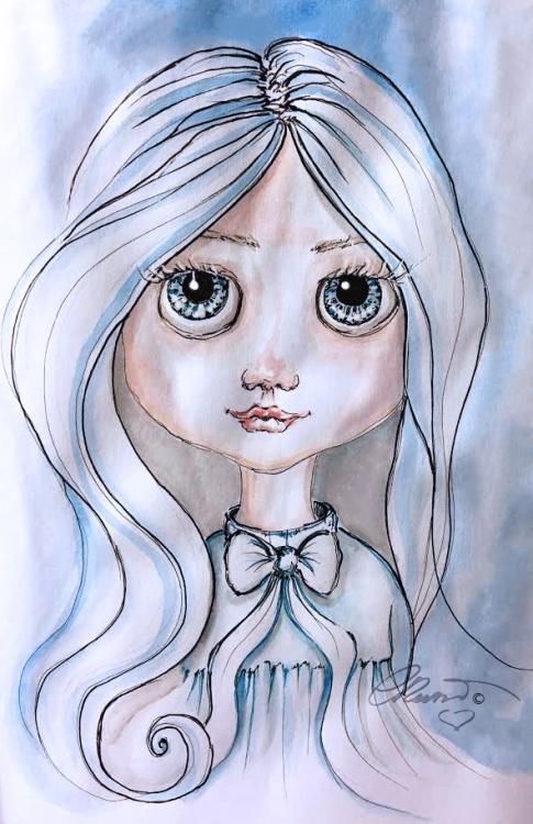 Blue - Original Watercolor ©CarolinaRusso