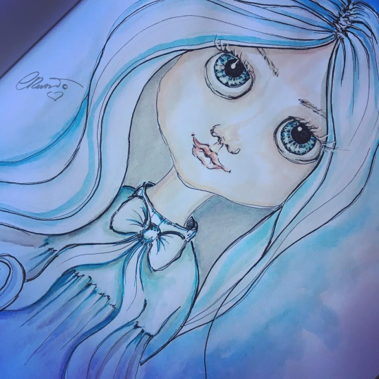 Blue - Original Watercolor ©CarolinaRusso