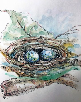 Nest - Original Watercolor ©CarolinaRusso